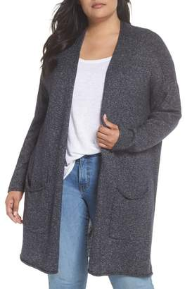 Caslon Drop Shoulder Open Cardigan