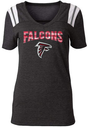 5th   Ocean Women Atlanta Falcons Shoulder Stripe Foil T-Shirt 93c4dc6e5