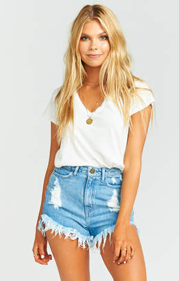 Show Me Your Mumu Houston High Waisted Shorts ~ Tide with Star Stamp