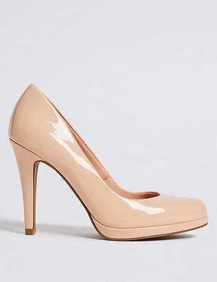 Marks and Spencer Stiletto Heel Platform Skin Tone Court Shoes