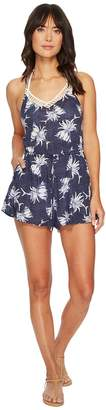Roxy Hippy Hour Romper Cover-Up Women's Swimsuits One Piece