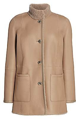 The Fur Salon Women's Shearling-Lined Leather Jacket