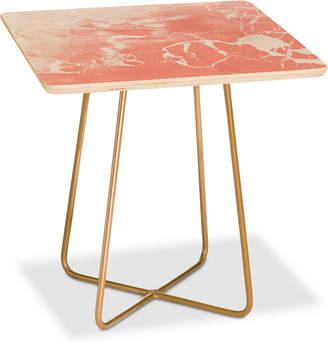 Deny Designs Emanuela Carratoni Pink Square Side Table