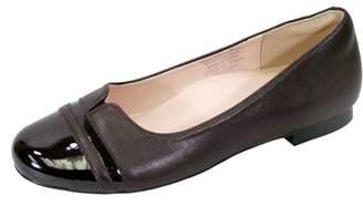 BEIGE Peerage PEERAGE Marina (FT6044) Women Extra Wide Width Round Toe Flats BROWN 9