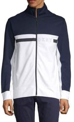 DKNY Logo Colorblock Zipper Jacket