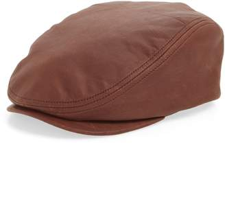 Crown Cap Leather Driving Cap