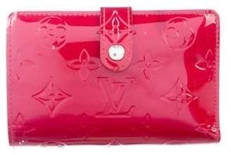 Louis Vuitton Vernis French Purse Wallet Red Vernis French Purse Wallet