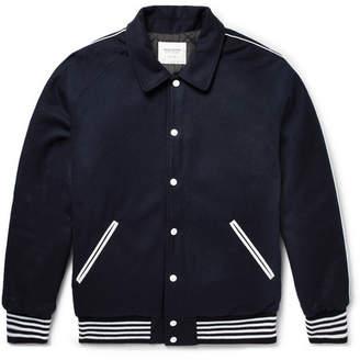 Noon Goons Appliquéd Wool-Fleece Bomber Jacket