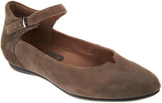 Earth Earthies Suede Flats with Ankle Strap - Emery