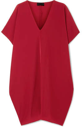 Hatch The Slouch Crepe De Chine Mini Dress - Claret