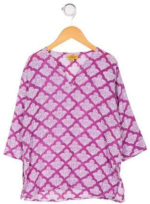 Roberta Roller Rabbit Girls' Printed Long Sleeve Tunic Top