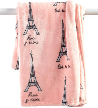 Elite Velvet Plush Fleece Paris Print Throw