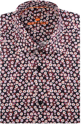 Bertigo Men's Flowers Print Dress Shirt