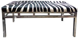 One Kings Lane Vintage Midcentury Zebra Hide Bench - Kakar House of Design