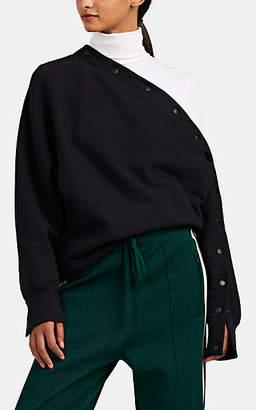 Rag & Bone Women's Kate Asymmetric Snap-Detailed Cotton Sweatshirt - Black