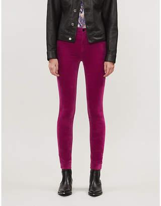 J Brand Maria skinny high-rise velvet jeans