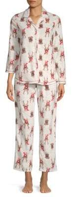 Two-Piece Graphic Pajama Set
