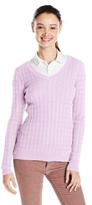 U.S. Polo Assn. Juniors' Cable-Knit V-Neck Pullover Sweater