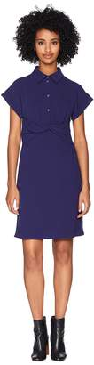Moschino Crepe Dress with Knotted Waist Women's Dress