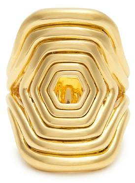 Fernando Jorge - Yellow Gold Cushioned Lines Ring - Womens - Gold