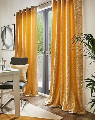 Marisota Leopard Lined Eyelet Curtains