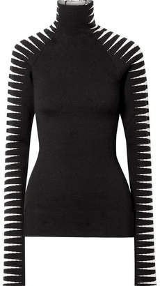 Haider Ackermann Wool And Silk-blend Jacquard Turtleneck Sweater
