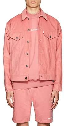 Leon AIMÉ DORE Men's Cotton Corduroy Trucker Jacket - Pink