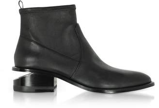 Alexander Wang Kori Stretch Black Leather Booties