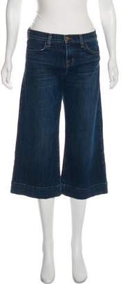 J Brand Mid-Rise Cropped Jeans