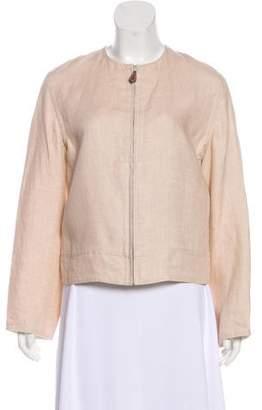 Hermes Linen Zip-Up Jacket