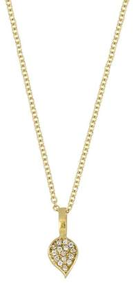 Bony Levy 18K Yellow Gold Diamond Leaf Pendant Necklace - 0.06 ctw