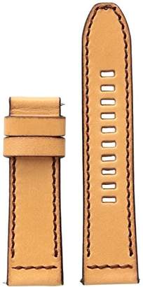 Diesel On Men's Vachetta Leather 24mm Strap DZT0002