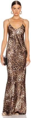 Nili Lotan Cami Gown in Brown Leopard Print   FWRD