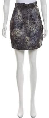 Elizabeth and James Brocade Mini Skirt