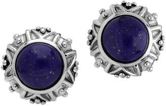 Lapis Elyse Ryan Sterling Silver Button Earrings