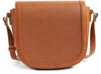 Sole Society Finnigan Faux Leather Crossbody Bag - Brown $49.95 thestylecure.com