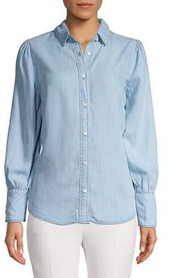 For The Republic Point Collar Chambray Button-Down Shirt