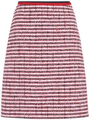 Gucci Striped cotton and wool-blend skirt