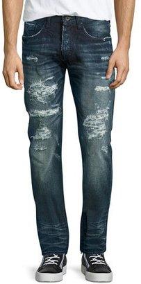 PRPS Demon Distressed Technics Denim Jeans, Dark Indigo $375 thestylecure.com