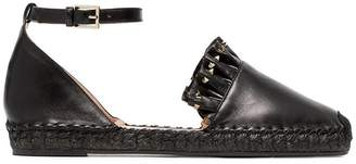 Valentino black Very leather espadrilles