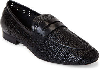 Donna Karan Black Amira Woven Leather Loafers