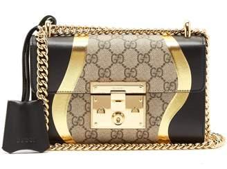 Gucci Padlock GG Supreme leather shoulder bag