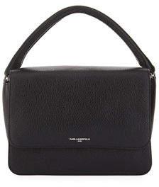 Karl Lagerfeld Paris Babette Leather Flap-Top Satchel Bag