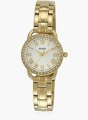 GUESS Women's -Tone Petite Sparkle Watch