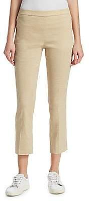 Theory Women's Pleated Linen Pants