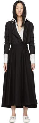 Y's Ys Black Suspender Skirt