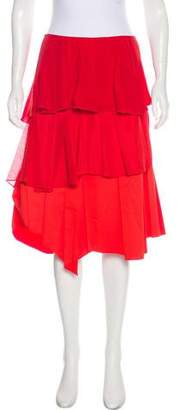 Cédric Charlier Pleated Silk Skirt w/ Tags