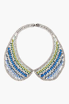 Dannijo Blue Crystal Emmett Collar