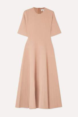 BEIGE CASASOLA - Ribbed Stretch-knit Midi Dress