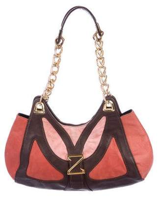 Zac Posen Leather & Suede Shoulder Bag